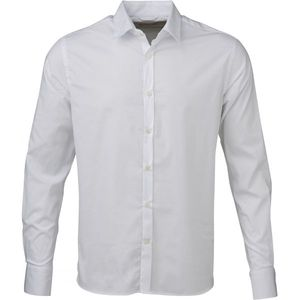 Stretchable Shirt - GOTS - Bright White - KnowledgeCotton Apparel