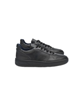 V-10 Leather Black Black - Veja