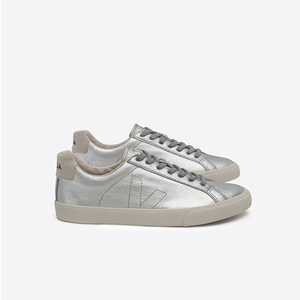 ESPLAR LOW TOP LEATHER - SILVER PIERRE  - Veja