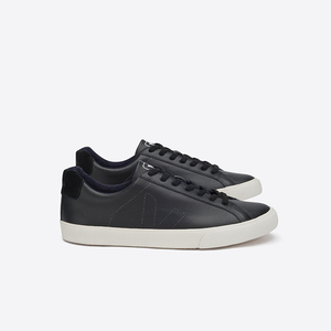 ESPLAR LOW TOP LEATHER - BLACK PIERRE  - Veja
