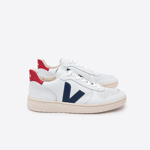 V-10 LEATHER - EXTRA WHITE NAUTICO PEKIN  - Veja