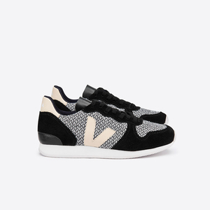 HOLIDAY LOW TOP BLEND - BLACK WHITE BLACK SABLE - Veja
