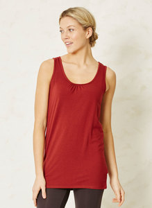 Bamboo Base Layer Singlet-Rust - Thought | Braintree