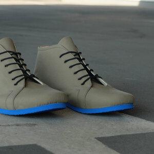 '66 veganer Sneaker aus Bio-Baumwolle Oliv/Blau - SORBAS