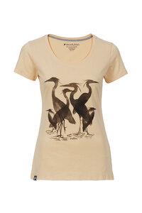 Frauen T-Shirt Reiher apricot - recolution