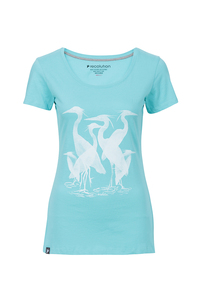 Frauen T-Shirt Reiher mint - recolution