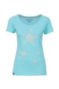 Frauen T-Shirt Seestern mint - recolution