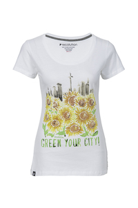 Frauen T-Shirt Green Your City weiß - recolution