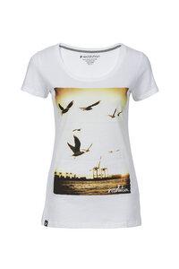 Frauen T-Shirt Hafen weiß - recolution