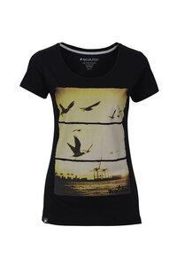 Frauen T-Shirt Hafen schwarz - recolution