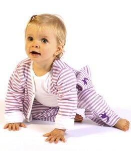 Baby Jacke, lila-weiß gestreift - Preciosa