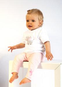 Baby Leggings hellrosa mit Logo Stickerei - Preciosa