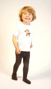 Baby T-Shirt weiß mit Druck 'Affe' - Preciosa