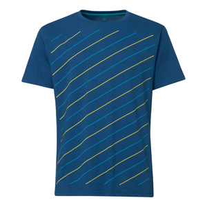ThokkThokk Thin Striped T-Shirt Peagreen & Caribbean/peacock - THOKKTHOKK