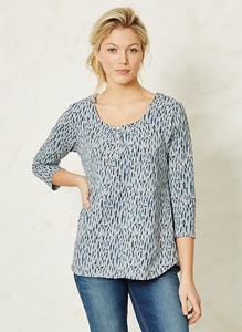 Leonora Top-Wood Flok  - Thought | Braintree
