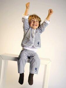 Kinder Hose, graublau-weiß gestreift - Preciosa