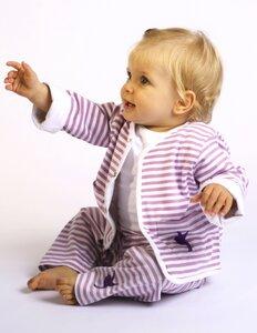 Kinder Hose, lila-weiß gestreift - Preciosa