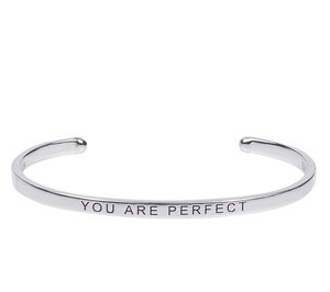 "925 Sterling Silber Armreif ""You are perfect""  - feelgood.bands"