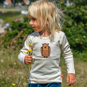 Kinder Longsleeve Zweigeule natur - Cmig