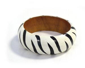 Holzarmreifen 'Zebra' - Preciosa