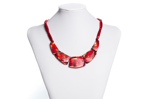 Rote Tagua Kette - Bea Mely