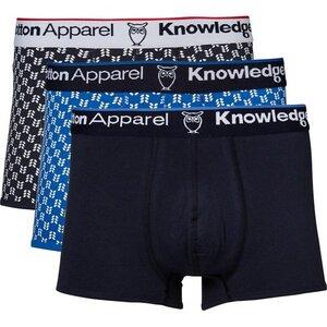 Underwear 3 Pack - GOTS - Schwarz/Blau - KnowledgeCotton Apparel