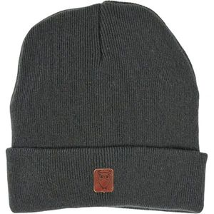 Beanie Hat - Dark Grey Melange - KnowledgeCotton Apparel