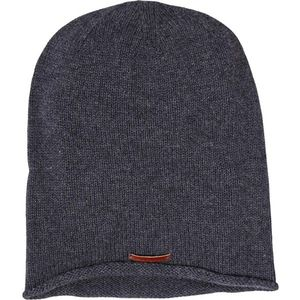 Single Knit Hat - Dark Grey Melange - KnowledgeCotton Apparel