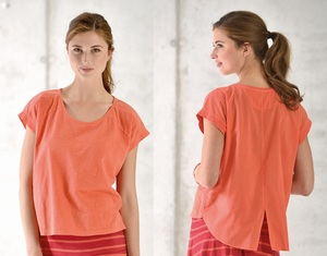 Shirt mit Voile Rückenteil - koralle - Madness