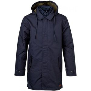 Double Layer Parka Coat - Total Eclipse - KnowledgeCotton Apparel