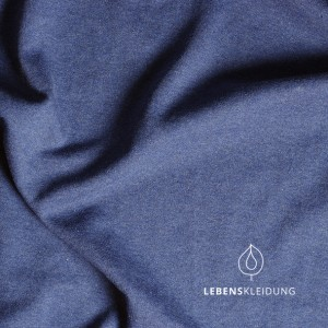 Winter-Sweat-Stoff blau meliert - Lebenskleidung