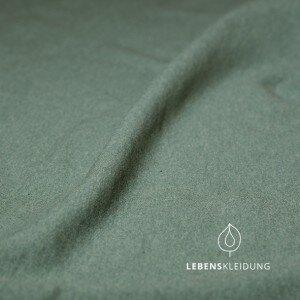 Winter-Sweat-Stoff dschungelgrün meliert - Lebenskleidung