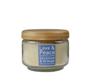 """Duftkerze im Glastopf 'Love & Peace"""" - Himmlische Düfte"""