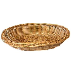 Ovaler handgemachter Weidenkorb - Biodora
