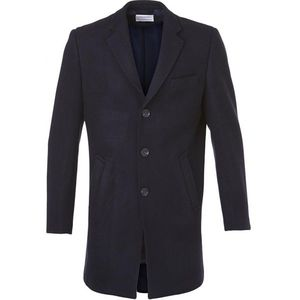 Wool Coat - Total Eclipse - KnowledgeCotton Apparel