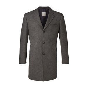 Wool Coat - Dark Grey Melange - KnowledgeCotton Apparel