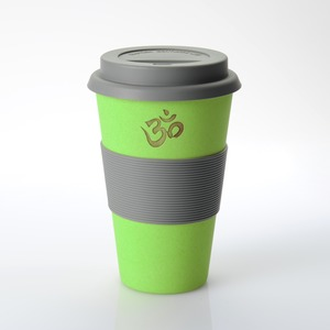 Coffee-to-go-Becher OM grün (Bambus) - freakulized