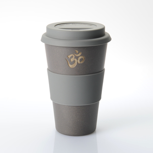 Coffee-to-go-Becher OM schwarz (Bambus) - freakulized