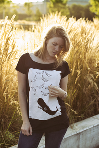 whale vs. ships Organic & Fair Women Raglan Shirt - ilovemixtapes
