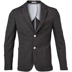 Pique Blazer - Dark Grey Melange - KnowledgeCotton Apparel