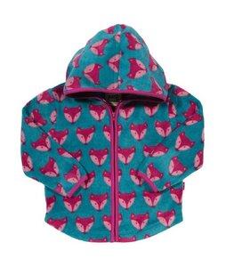 Baby u. Kinder Fleece Jacke mit Kapuze blau pink schadstoffgeprüft - Kite
