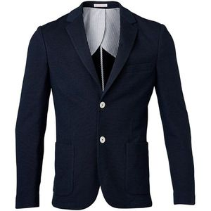 Pique Blazer - Total Eclipse - KnowledgeCotton Apparel