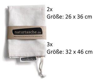 Naturtaschen im 5er Set - Naturtasche