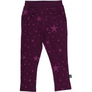 Jogginghose Sterne Aubergine - Green Cotton