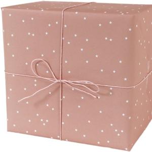 Recycling-Geschenkpapier Sterne, lachsfarben - ava&yves