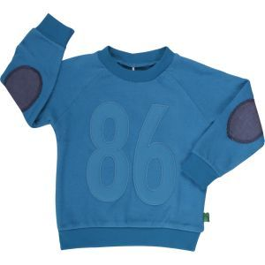 Sweat Pullover Jewel Blue - Green Cotton