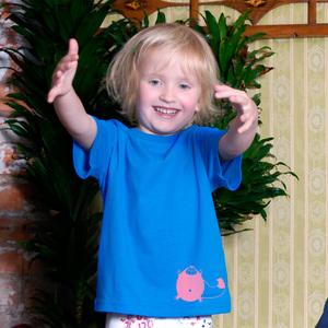'Grinsekatze' Kinder T-Shirt FAIR WEAR ORGANIC - shop handgedruckt
