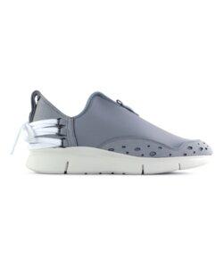 Bamboo Runner grau vegan - weiße Sohle - ekn footwear