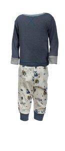 Schlafanzug - dunkles blau geringelt - People Wear Organic