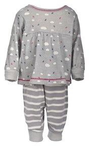 Schlafanzug - helles grau gemustert - People Wear Organic